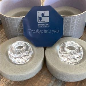 Swarovski Crystal Candle Holders